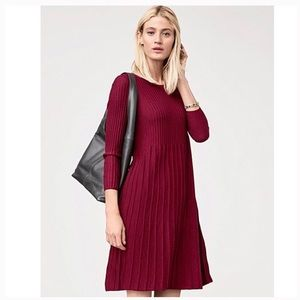 Eileen Fisher Washable Wool Scoopneck Dress SZ S